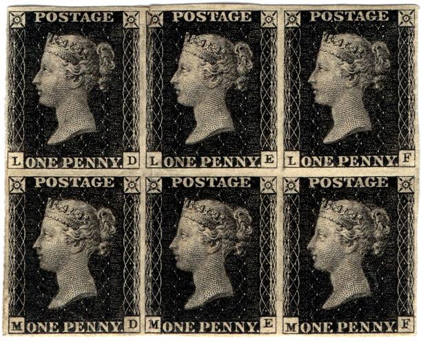 eerste postzegel